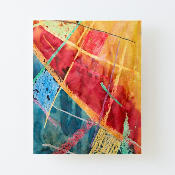 Abstract texture Canvas Mounted Print