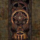 Infernal Steampunk Machine #2C Vintage Steampunk phone cases by Steve Crompton