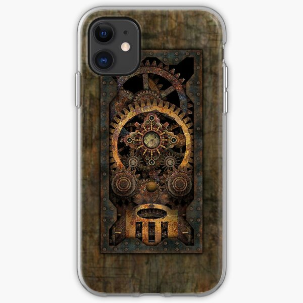 Infernal Steampunk Machine #2C Vintage Steampunk phone cases iPhone Soft Case