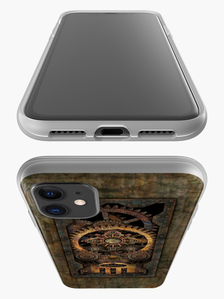 Alternate view of Infernal Steampunk Machine #2C Vintage Steampunk phone cases iPhone Case & Cover