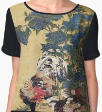 Two Roosters Women's Chiffon Top