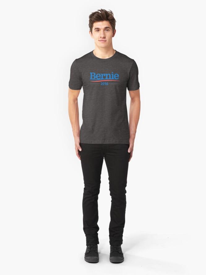 Alternate view of Bernie Sanders 2016 Campaign Logo Slim Fit T-Shirt