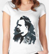 Friedrich Nietzsche portrait vector drawing  Women's Fitted Scoop T-Shirt