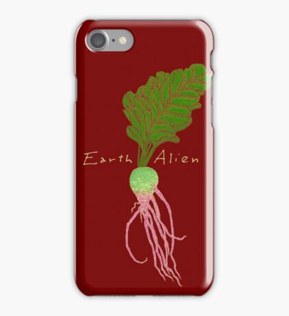 Earth Alien Watermelon Radish iPhone Case/Skin