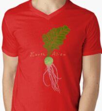 Earth Alien Watermelon Radish Men's V-Neck T-Shirt