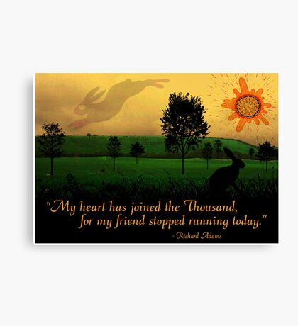 My Heart Has Joined the Thousand Canvas Print