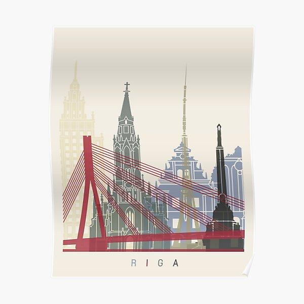 Riga skyline poster Poster