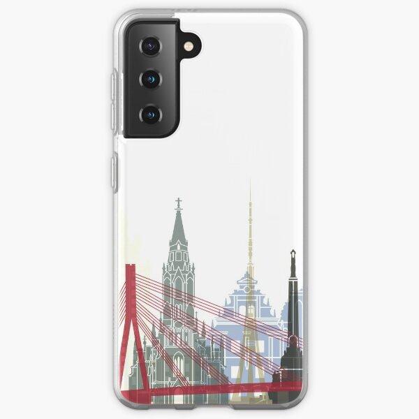 Riga skyline poster Samsung Galaxy Soft Case