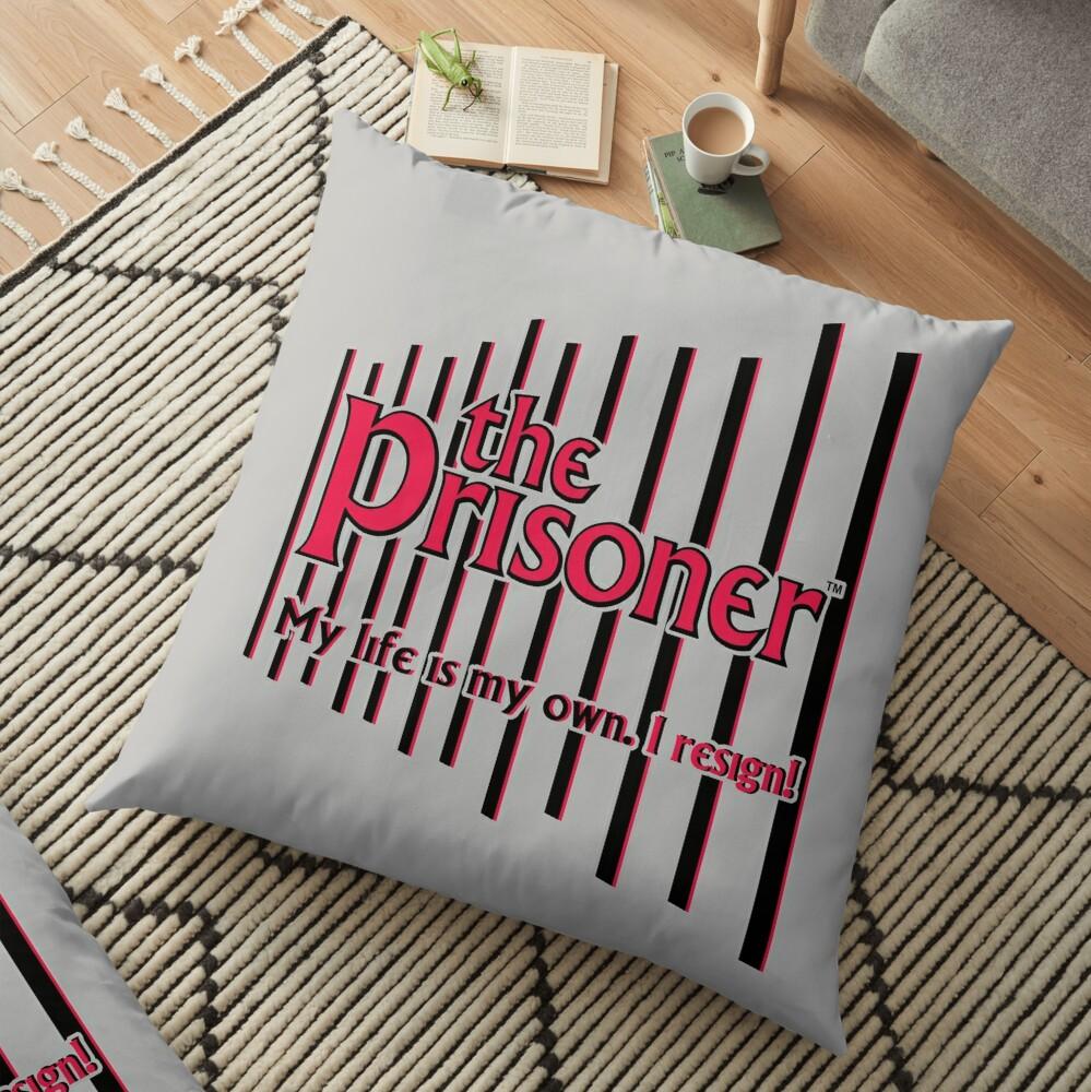 THE PRISONER - I RESIGN Floor Pillow