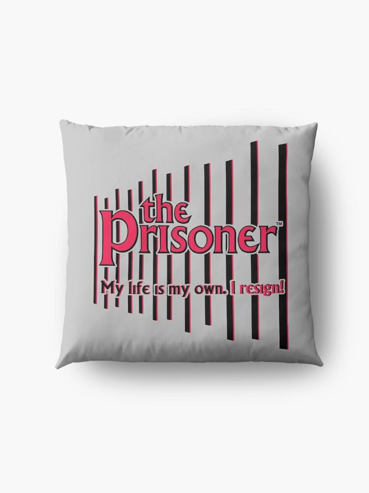 Alternate view of THE PRISONER - I RESIGN Floor Pillow