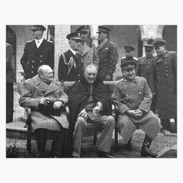 """The """"Big Three"""" at the Yalta Conference, Winston Churchill, Franklin D. Roosevelt and Joseph Stalin Jigsaw Puzzle"""