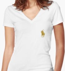yellow grim reaper polo Women's Fitted V-Neck T-Shirt