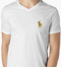yellow grim reaper polo Men's V-Neck T-Shirt