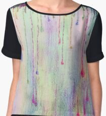 Funky Colorful Rain Drops Women's Chiffon Top