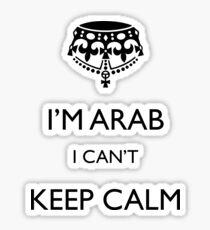 I'm arab I can't keep calm Sticker