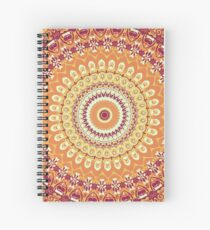 Orange Spice Mandala Spiral Notebook