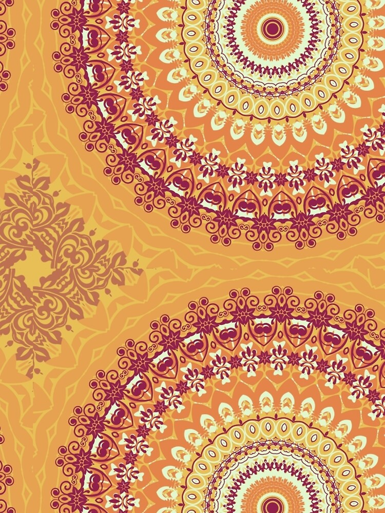 Orange Spice Mandala by InspiraImage
