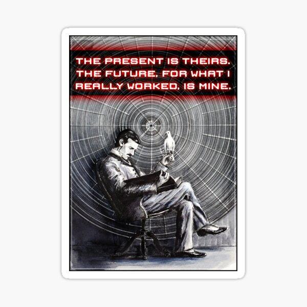 Nikola Tesla, drawing Sticker