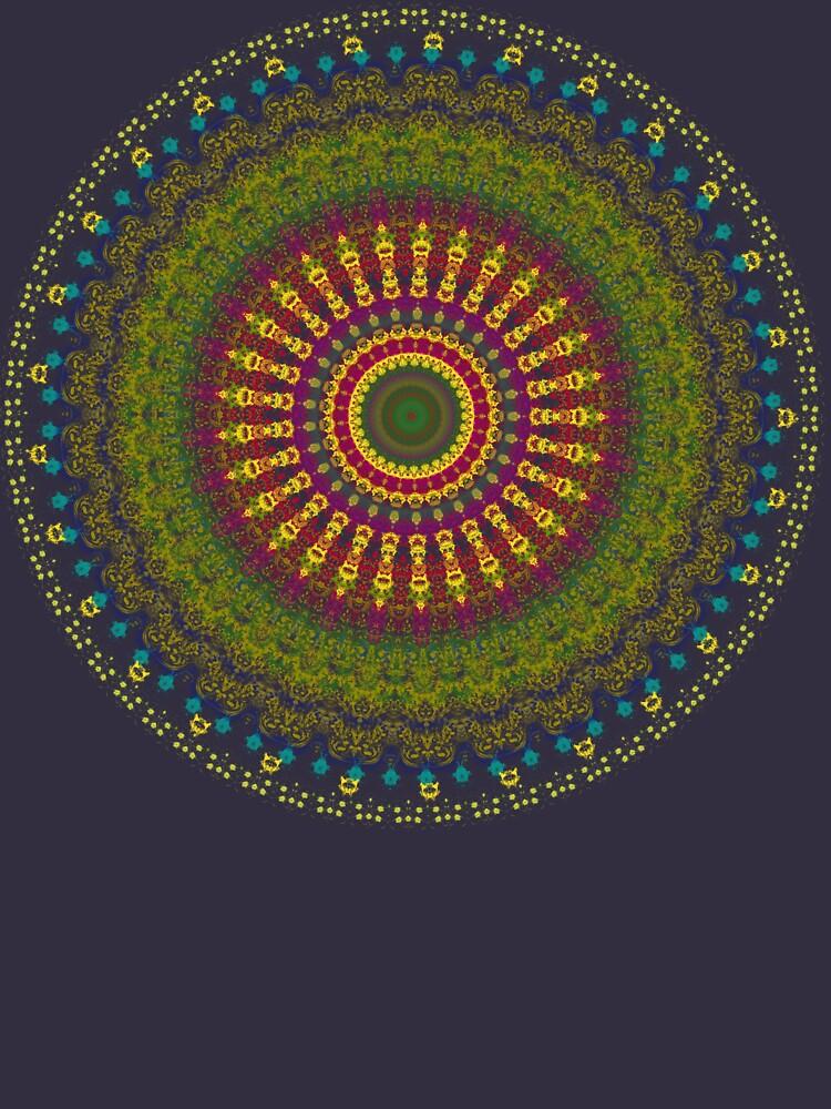 Bright Blessings Mandala  by InspiraImage