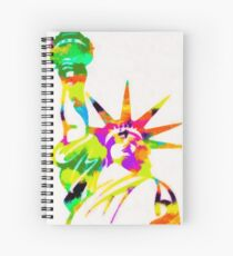 Statue Of Liberty Colorful Abstract Spiral Notebook