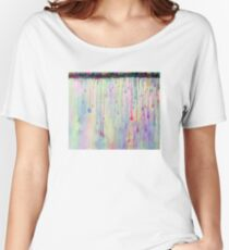 Rainbow Drops in vibrant ink Women's Relaxed Fit T-Shirt
