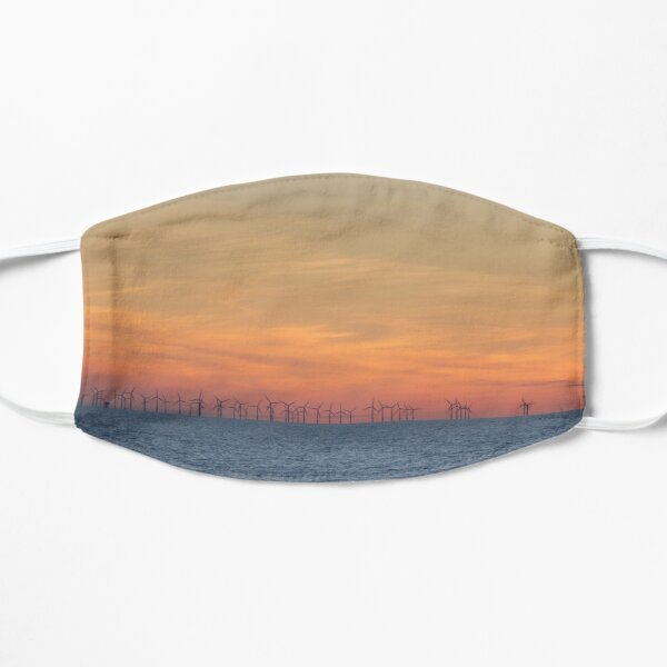Sunsets Over the Burbo Bank Wind Farm Flat Mask