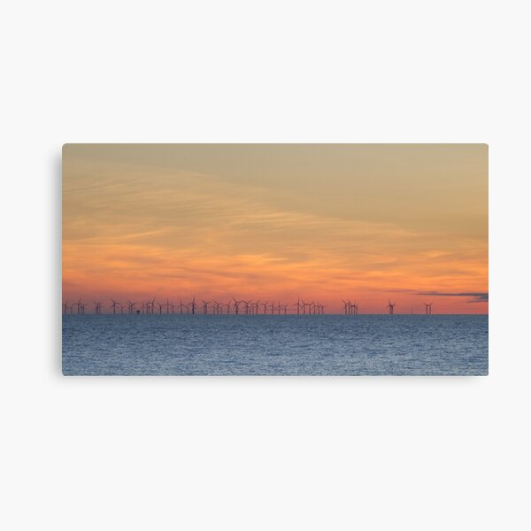 Sunsets Over the Burbo Bank Wind Farm Canvas Print