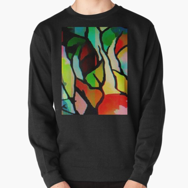 MULTI COLOUR ABSTRACT Pullover Sweatshirt