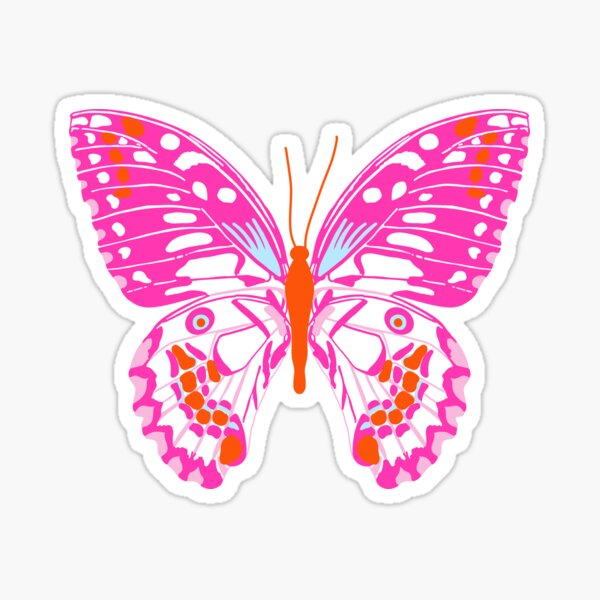Preppy Butterfly Sticker