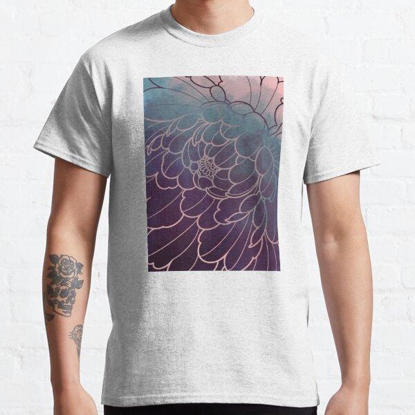 dark peony flower  japanese style, uneven pattern Classic T-Shirt