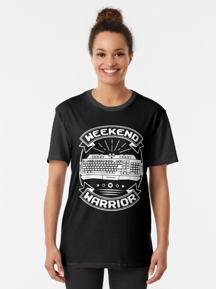 Alternative Ansicht von Weekend Warrior: Keyboarder Grafik T-Shirt
