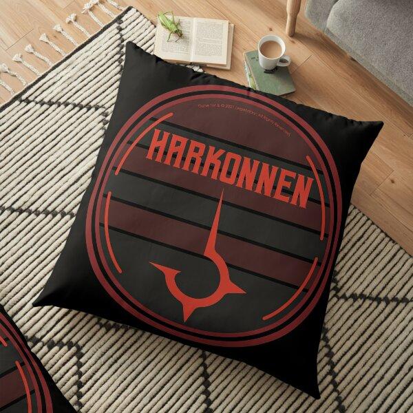 Harkonnen House Circular Art Design (on black) - Dune (2021 film) Floor Pillow