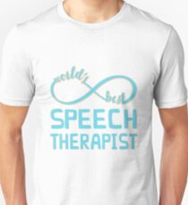 Aqua Infinity World's Best Speech Therapist Unisex T-Shirt
