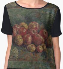Van Gogh  - Apples, 1887. Famous Paintings. Impressionism. Original Women's Chiffon Top
