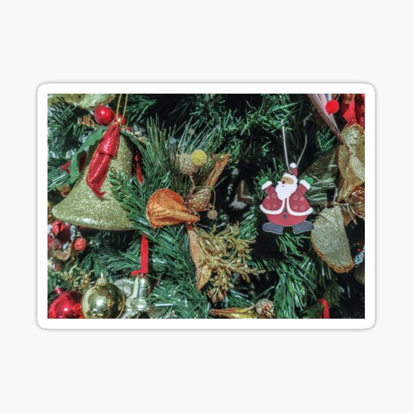 Christmas decoration - Bell and Santa Sticker