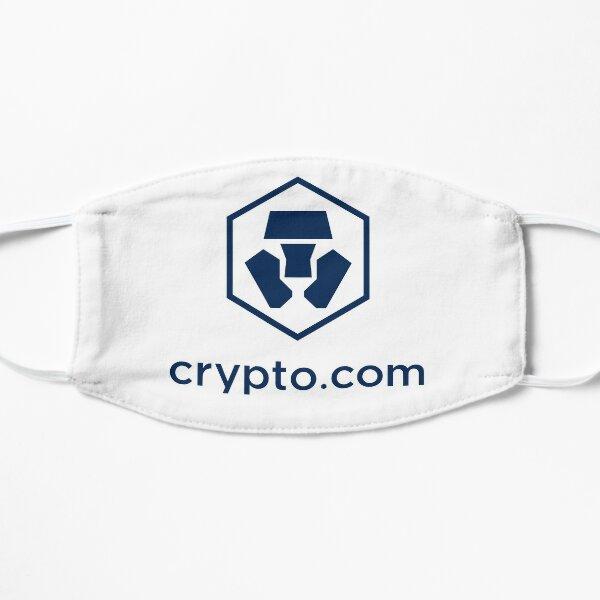 Crypto.com en blanco Mascarilla plana