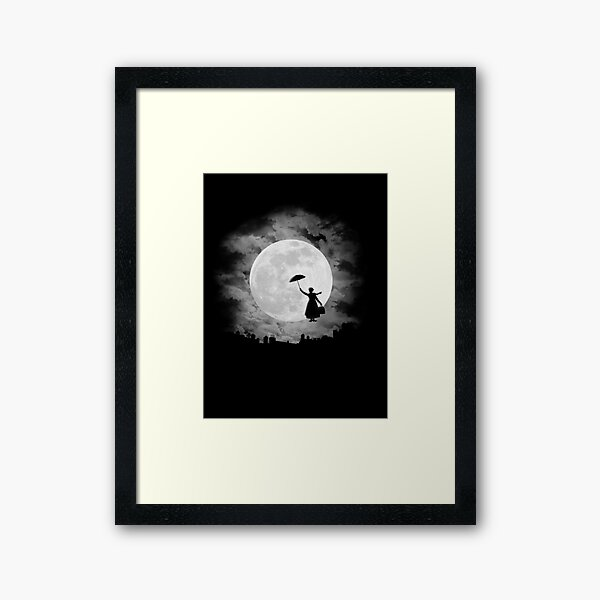 Mary poppins moon Framed Art Print