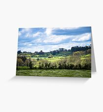 Rolling landscape in Galicia Greeting Card