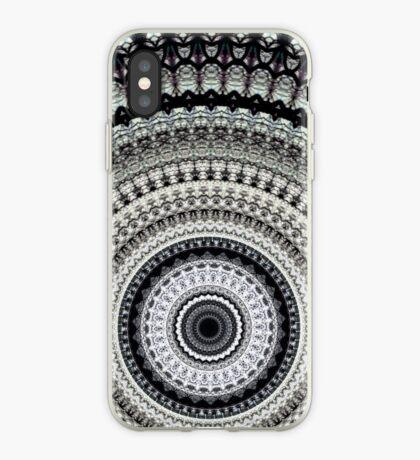 Mono Rays Mandala iPhone Case
