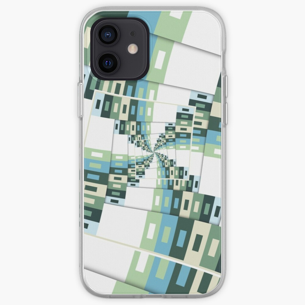 Retro Geometric Rotation iPhone Case & Cover