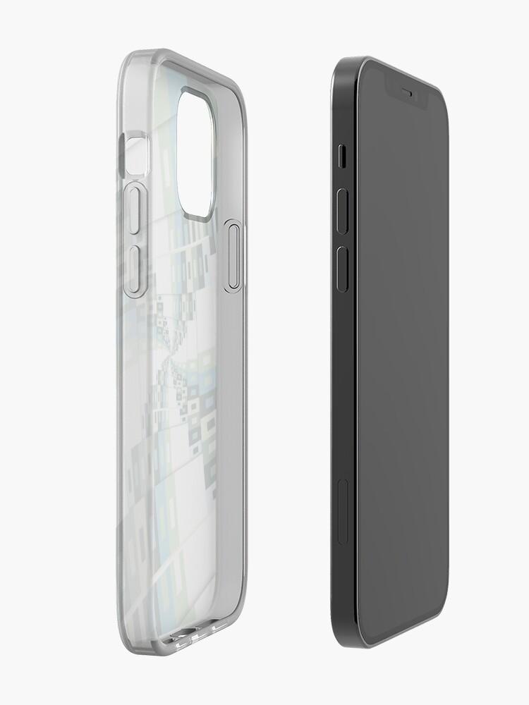 Alternate view of Retro Geometric Rotation iPhone Case & Cover