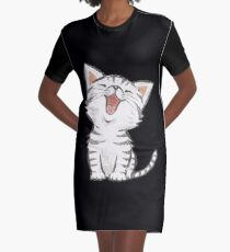 American Shorthair happy Graphic T-Shirt Dress