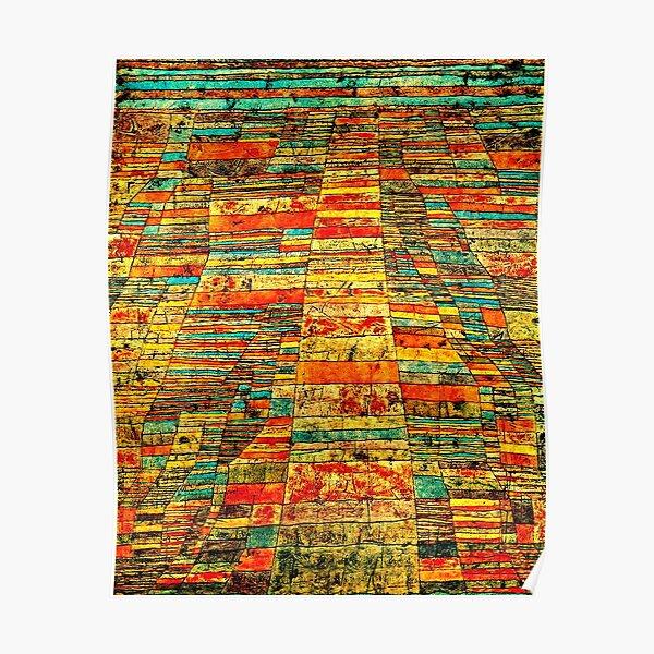 Klee - Highway and Byways, célèbre tableau de Paul Klee Poster
