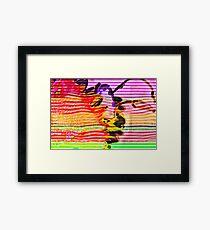 Psycho Sunflower Framed Print