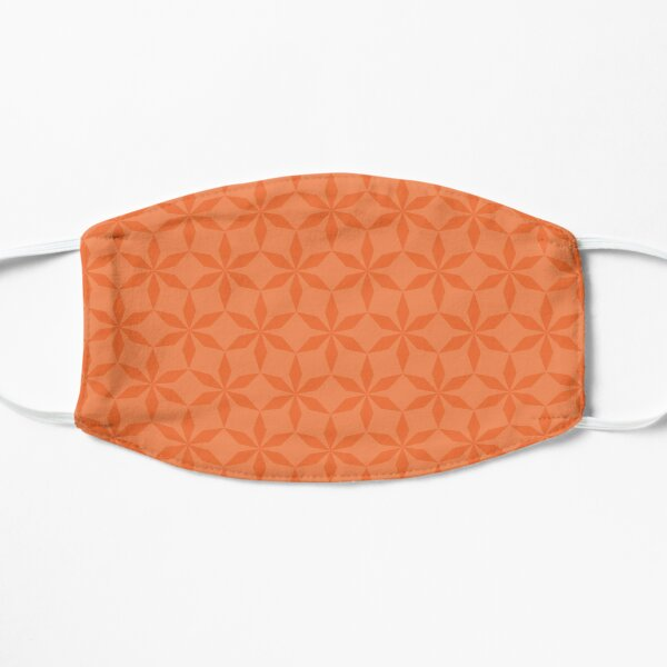 Orange Diamond Flowers  Flat Mask