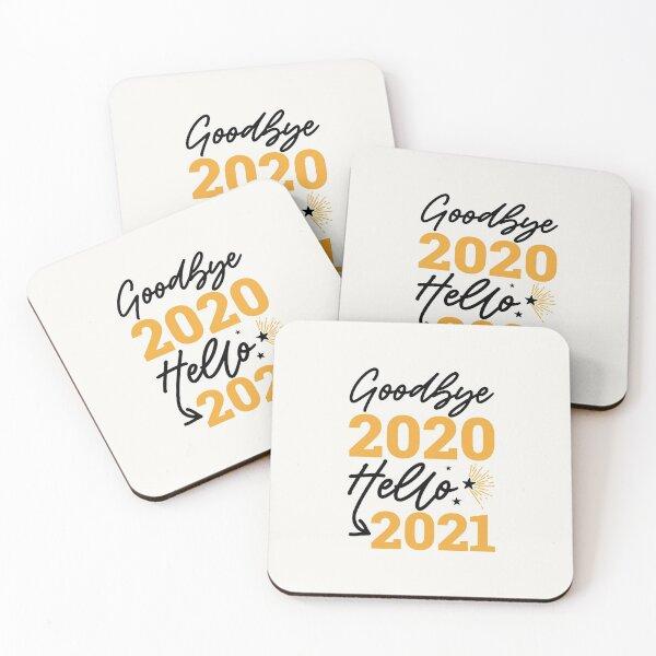 goodbye 2020 hello 2021 Coasters (Set of 4)