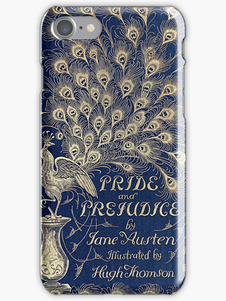 quotpride and prejudice peacock edition book coverquot iphone