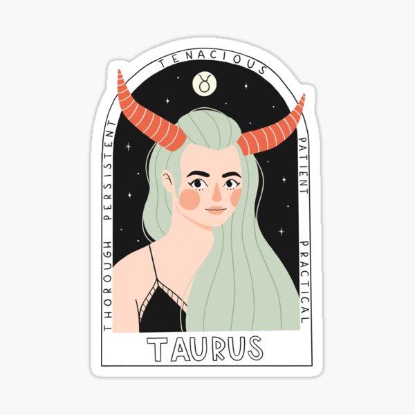 Taurus Zodiac Goddess Sticker