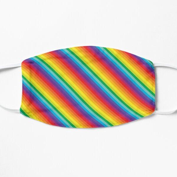 Rainbow Stripe  Flat Mask