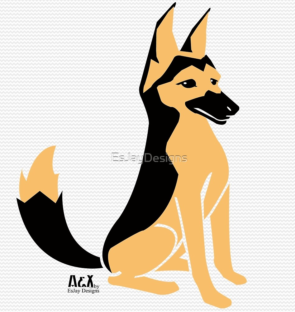 German Shepherd by EsJayDesigns